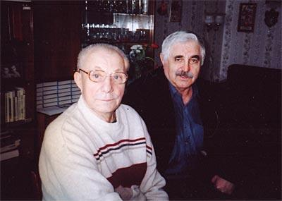 С братом Гагарина 8 марта 2004 года.